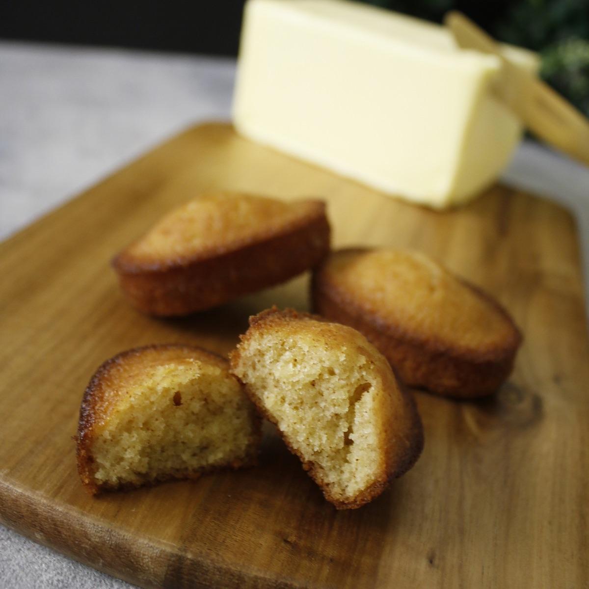 フランス産発酵バターのフィナンシェ