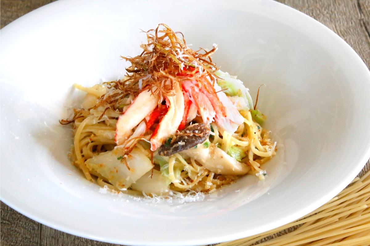 TOOTH TOOTH Paradise Kitchen『ズワイガニと冬野菜の和風オイルパスタ』